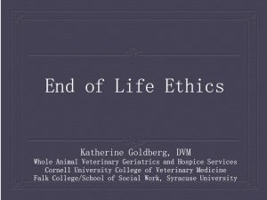 End of Life Ethics