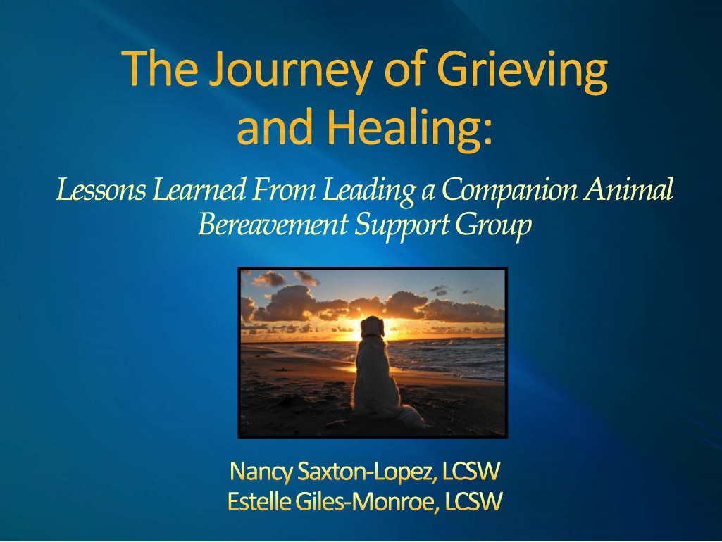 The Journey of Grieving  & Healing