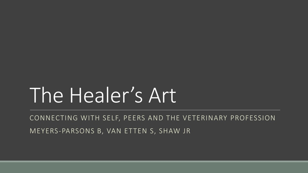 B Meyers-Parsons J Shaw The Healer's Art