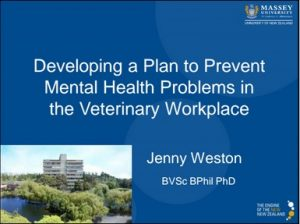 J Weston Developing a Plan to Prevent Mental Health