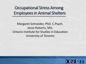 M Schneider J Roberts Occupational Stress
