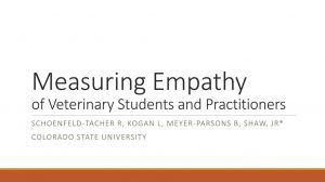 R Schoenfeld-Tacher L Kogan B Meyer-Parsons J Shaw Measuring Empathy