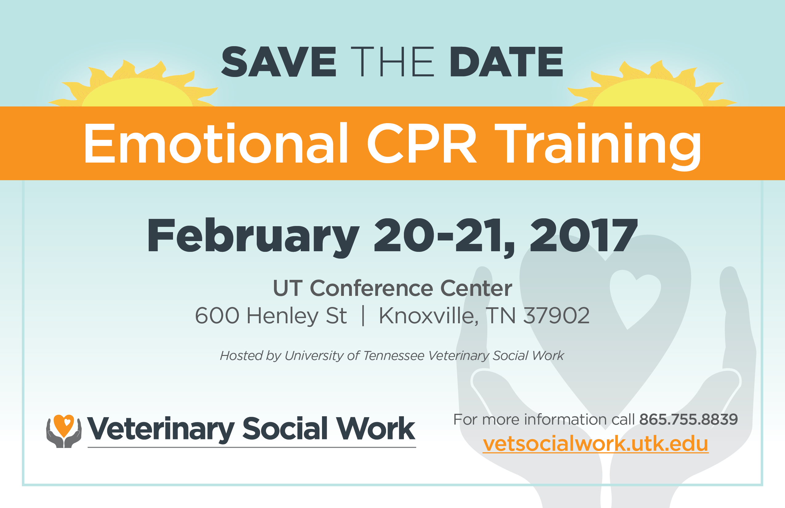 veterinary social work emotional cpr training come join us